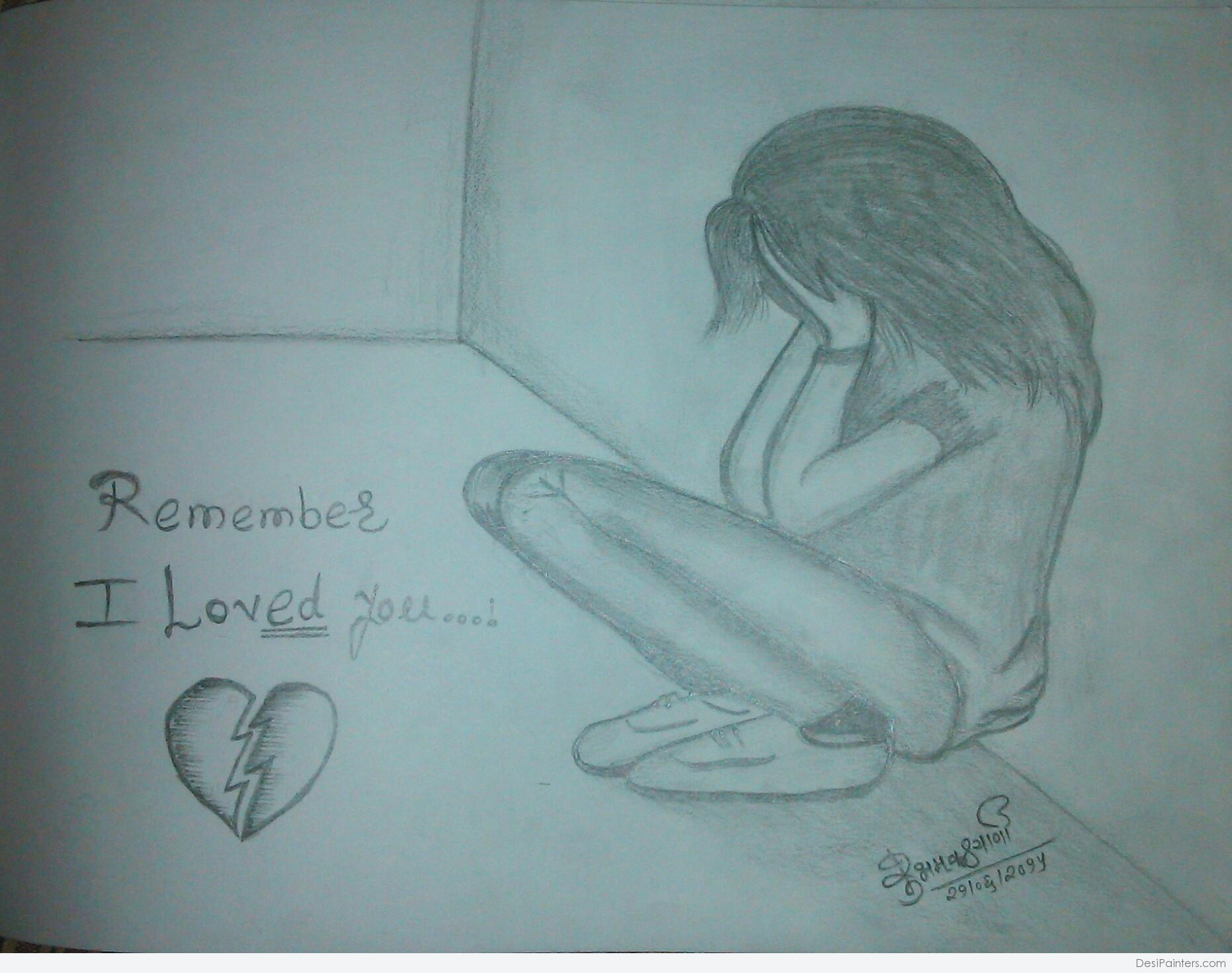 1862x1470 Pencil Sketch Of Girl Crying Pencil Sketch Of Boy And Girl Breakup