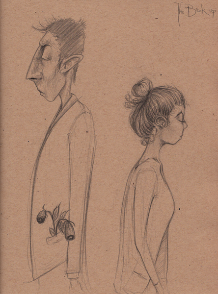Pencil Sketches Of Love Breakup