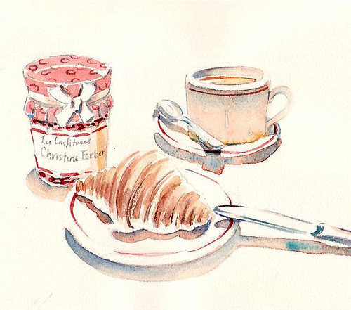 500x441 Breakfast Illustration. Cute To Put Up In The Kitchen. Art