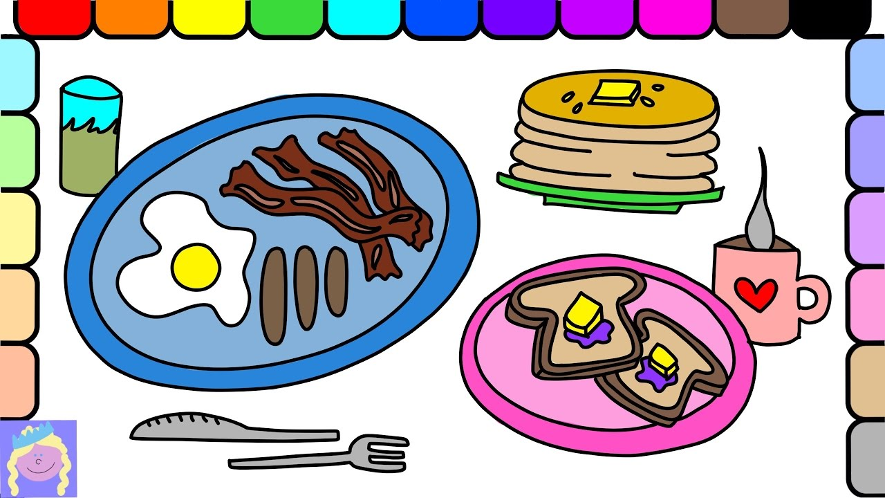 1280x720 Learn How To Draw A Yummy Breakfast With This Easy Drawing