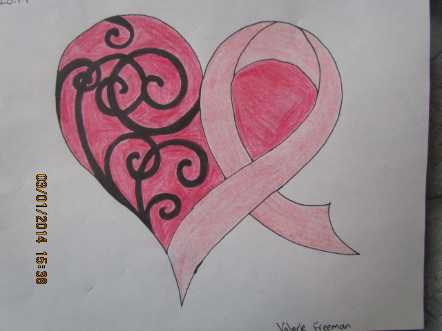 640x480 Breast Cancer Awareness Heart Ribbion By Ilovedrawing013