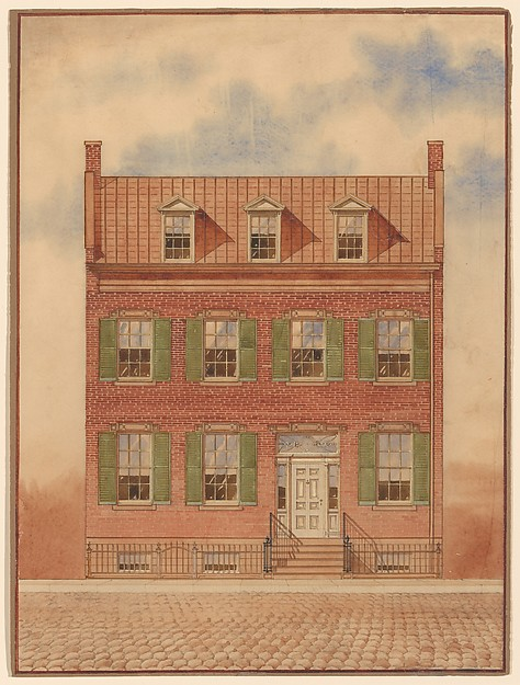 474x625 Architectural Drawing Of An Early Nineteenth Century Brick House