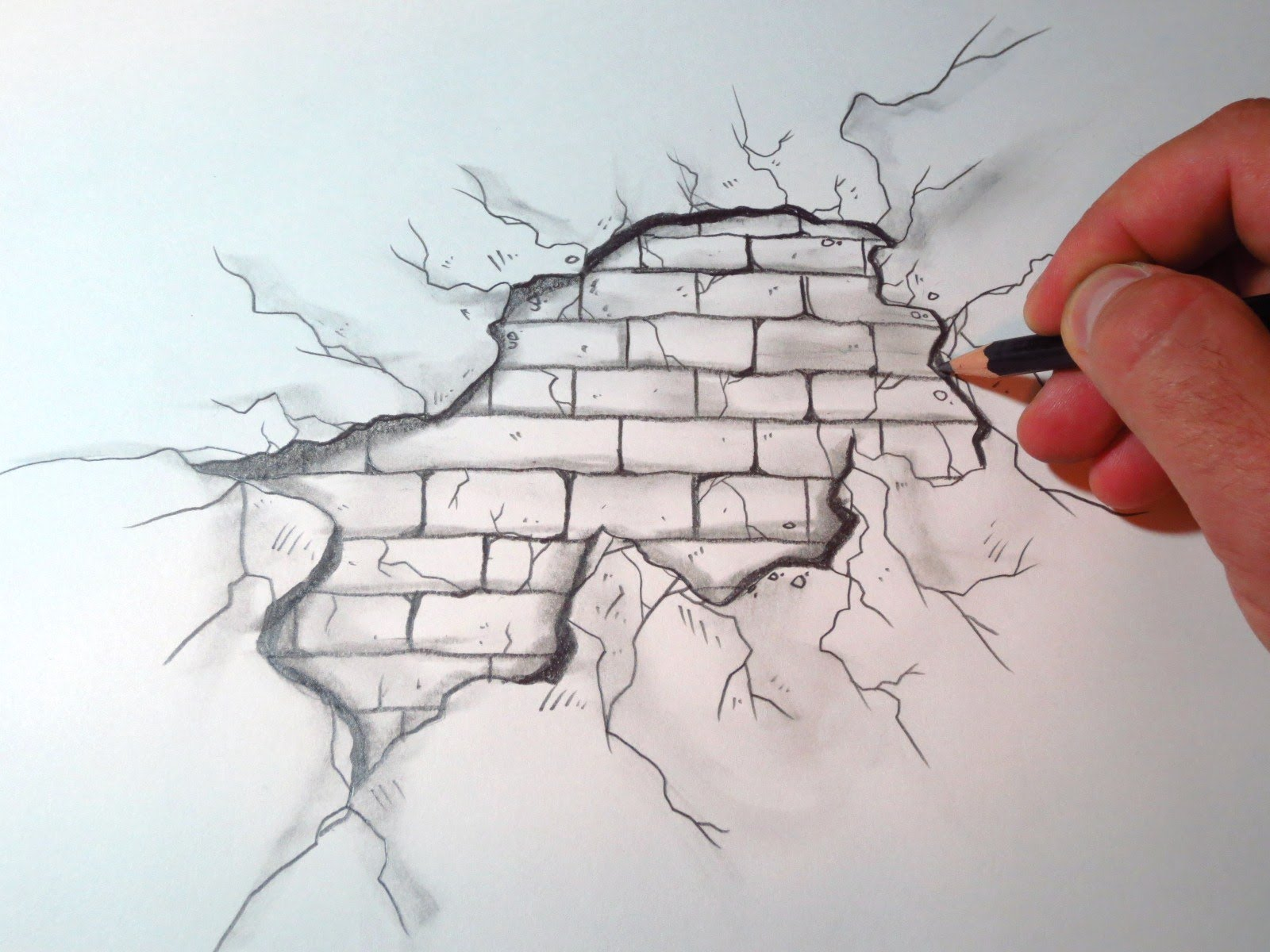 1600x1200 How To Draw A Cracked Brick Wall (The Original Video)