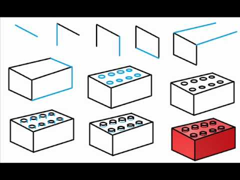 480x360 How To Draw A Lego Brick Step By Step Drawing Tutorial