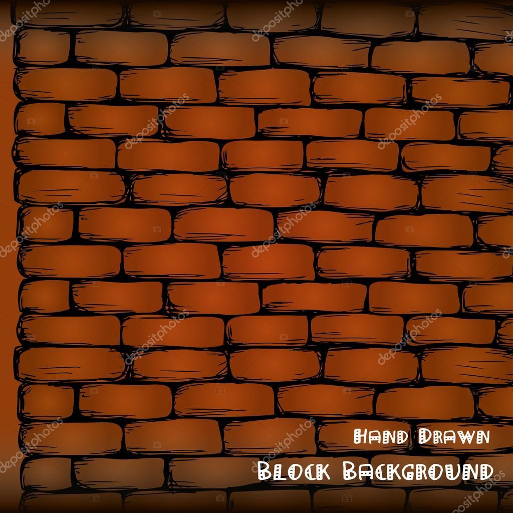 1024x1024 Brick Wall , Hand Drawing, Stock Vector Naum100