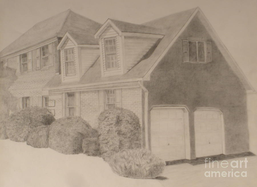 900x655 She's A Brick House Drawing By Meg Goff