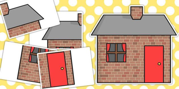 630x315 The Three Little Pigs Large A2 Brick House Cut Out