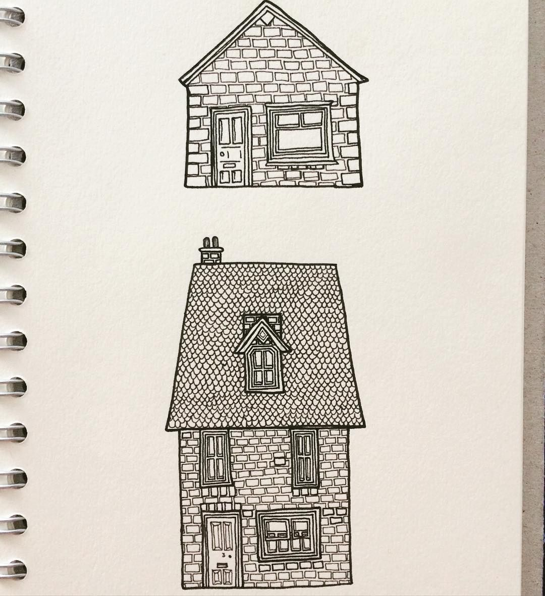 1080x1181 Two Tiny Little Brick Houses From This Morning