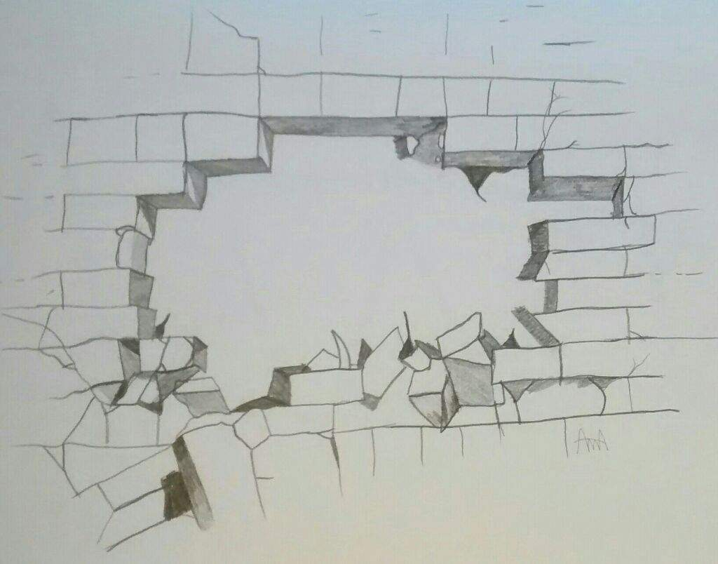 1024x804 How To Draw A Cracked Brick Wall