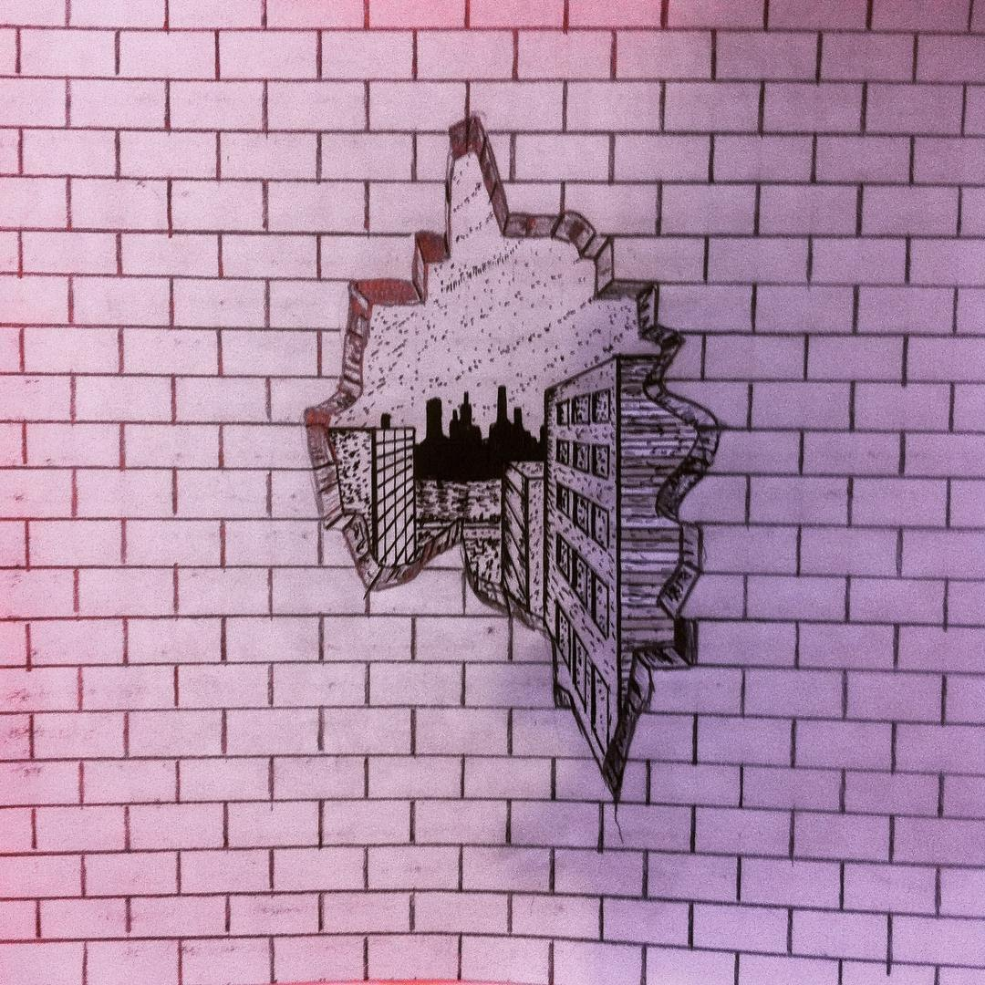 1080x1080 How To Draw A Hole In A Brick Wall