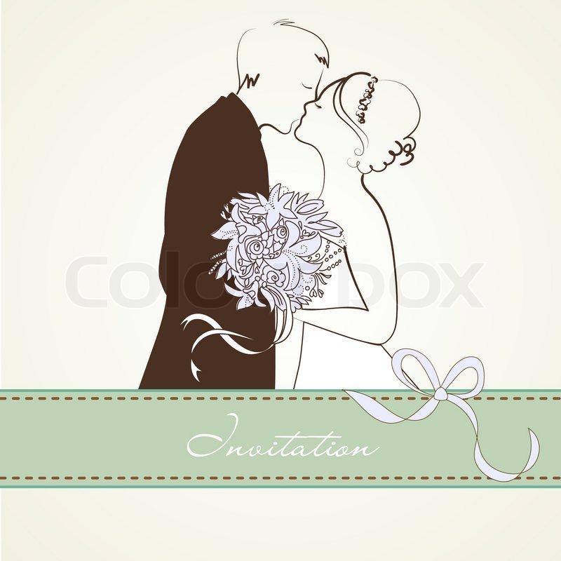800x800 Bride And Groom. Wedding Background Stock Vector Colourbox