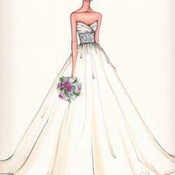 250x250 Bride Drawing, Pencil, Sketch, Colorful, Realistic Art Images
