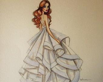 340x270 Custom Bridal Sketch Etsy
