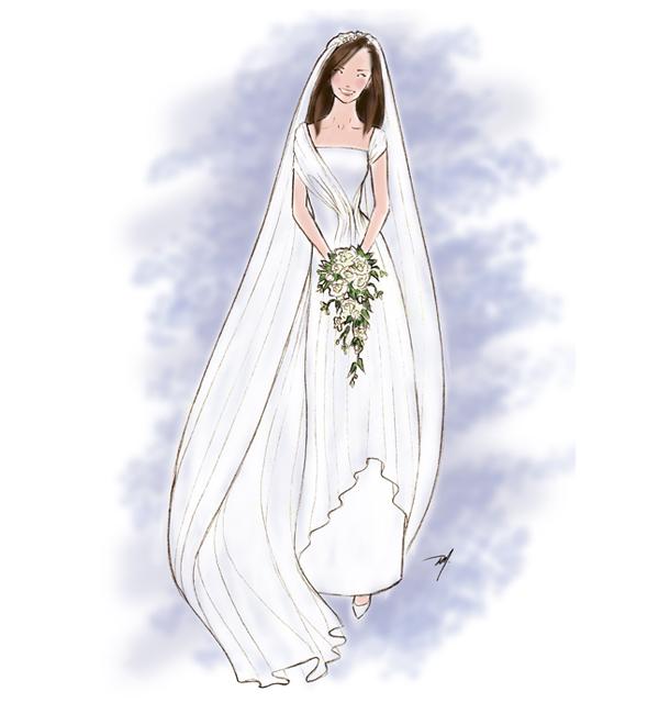 600x650 Drawing Dress For A Princess Bride Final Fashion
