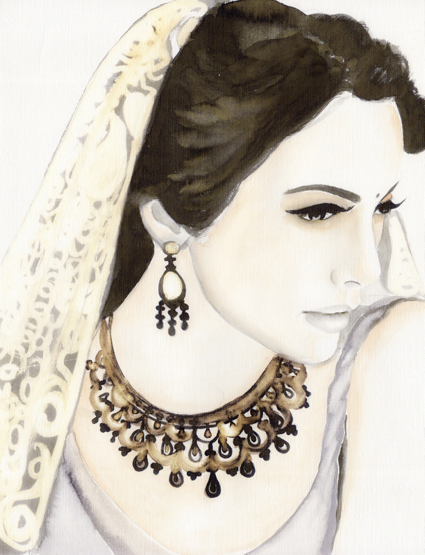 612x800 Indian Bride Drawing