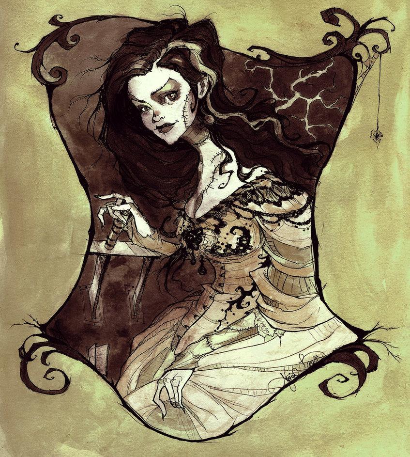 847x943 Bride Of Frankenstein By Abigaillarson