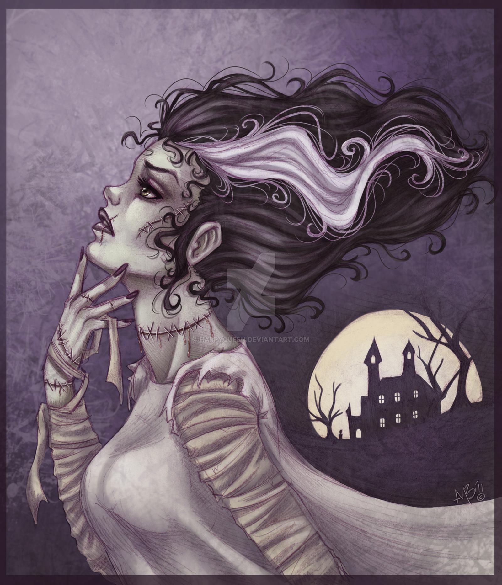 1600x1865 Bride Of Frankenstein By Stressedjenny