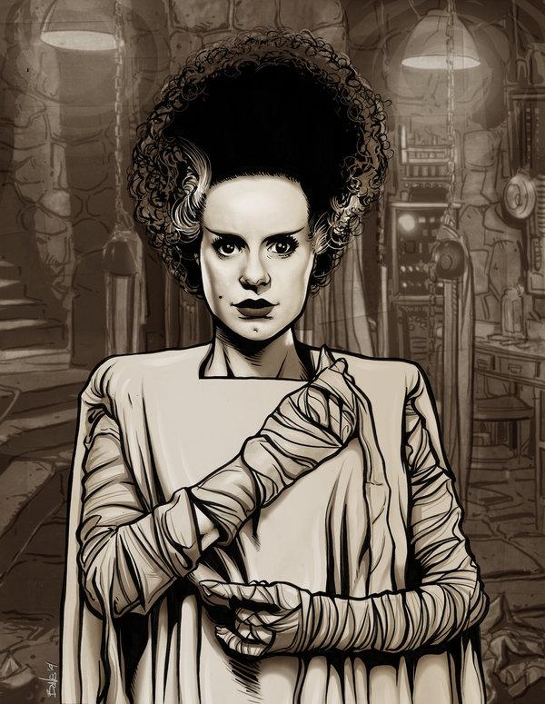 600x775 The Bride Of Frankenstein By Mister Bones