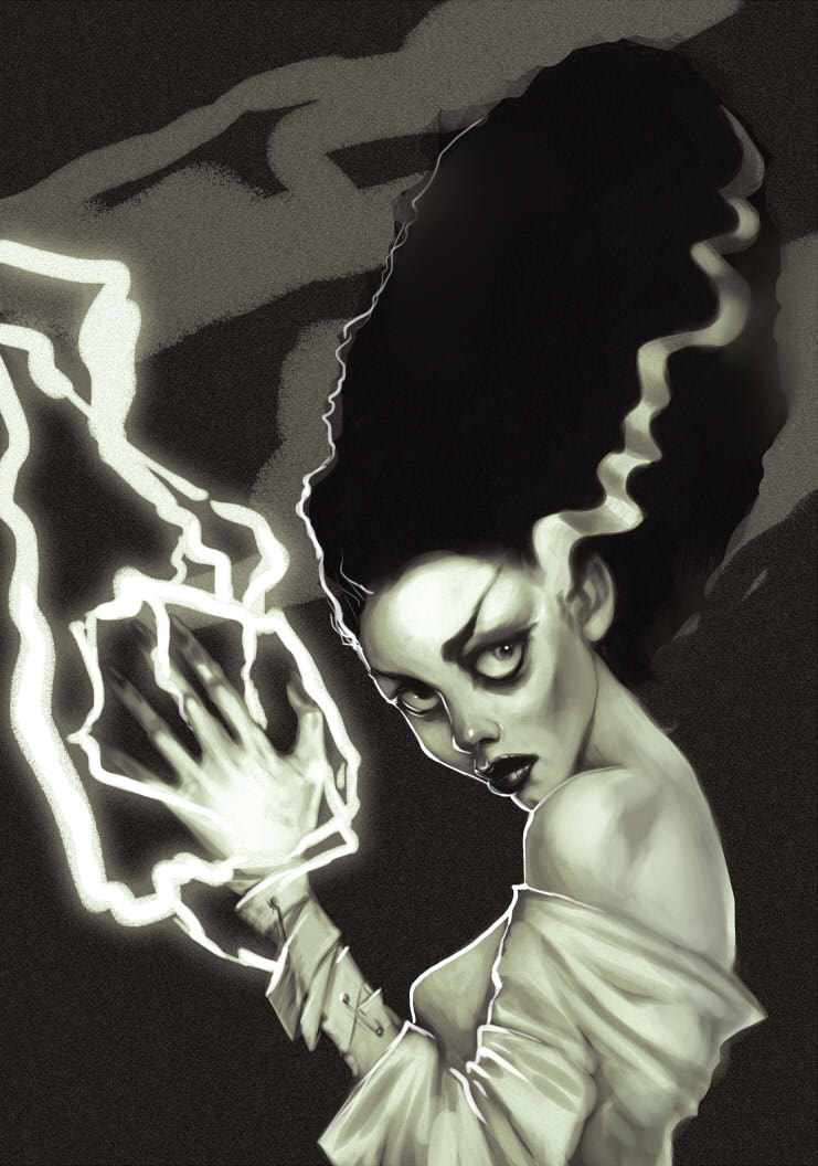 741x1056 The Bride Of Frankenstein By Aliszombie