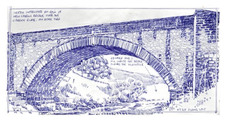 770x415 Saatchi Art Carron Bridge Drawing By Richard Johnson