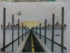 236x177 One Point Perspective Bridge My Paintings And Drawings