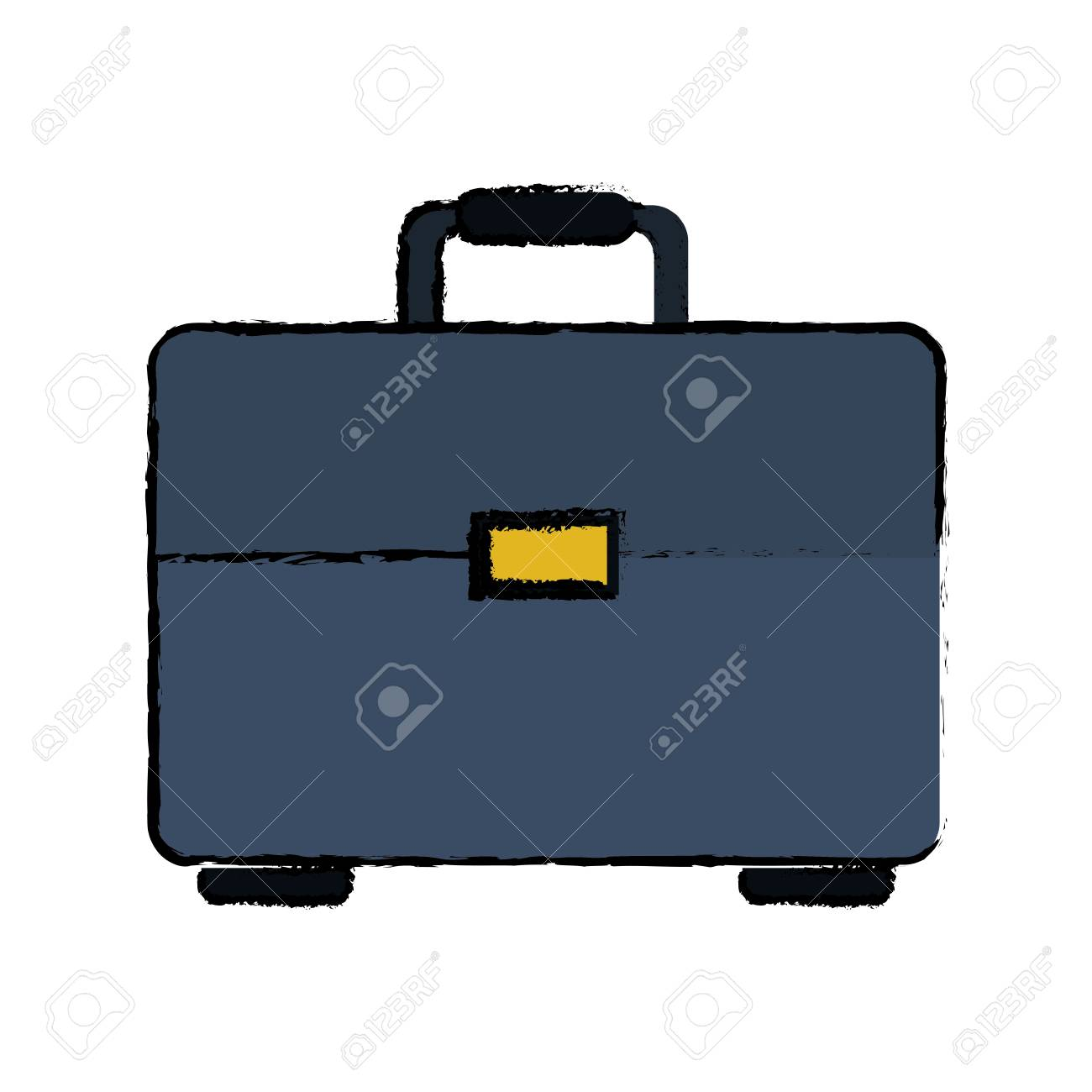 1300x1300 Drawing Portfolio Suitcase Business Document Vector Illustration