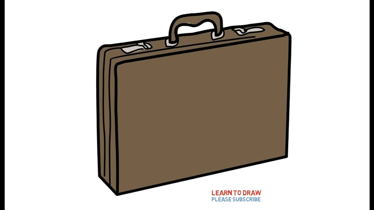 1280x720 Easy Step For Kids How To Draw A Briefcase