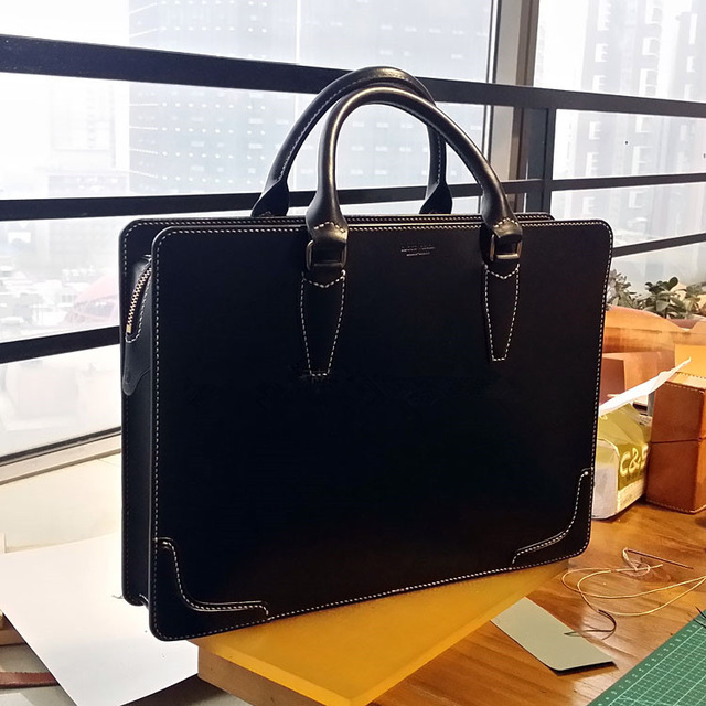 640x640 Handbag Drawing [B 018] Diy Handmade Leather Briefcase Classical