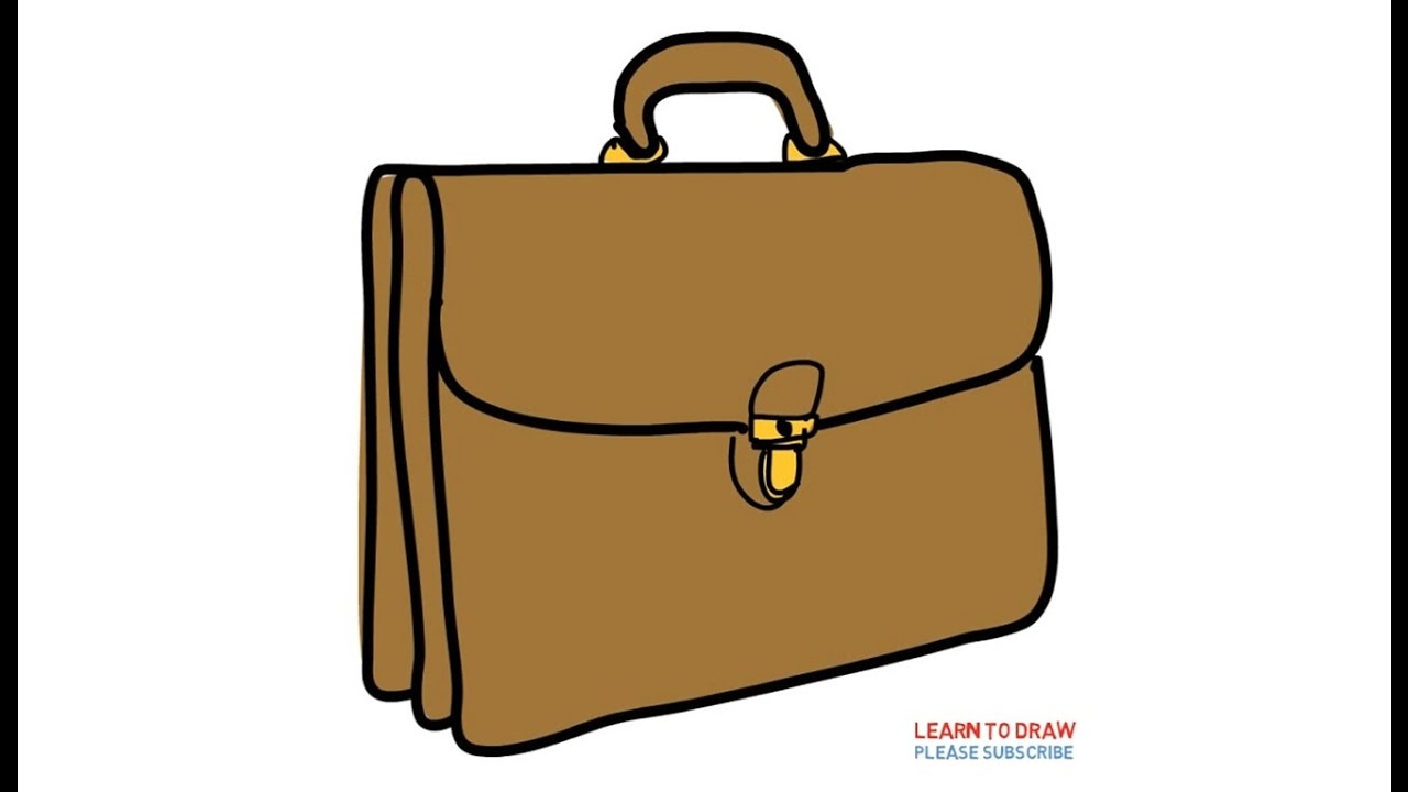 1280x720 How To Draw A Briefcase Easy Step By Step