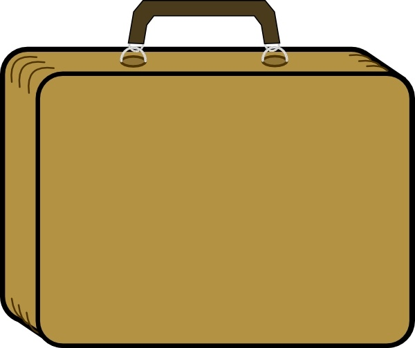 600x504 Little Tan Suitcase Clip Art Free Vector In Open Office Drawing