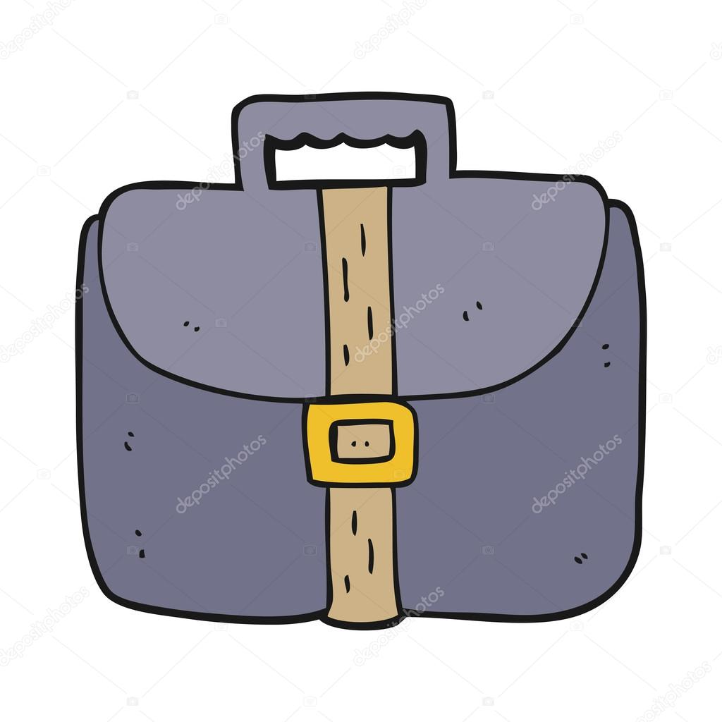 1024x1024 Freehand Drawn Cartoon Briefcase Stock Vector Lineartestpilot