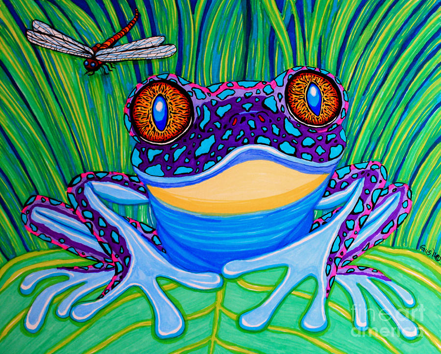 900x722 Bright Eyed Frog Drawing By Nick Gustafson