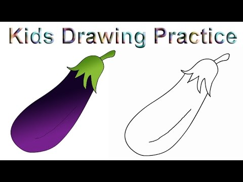 480x360 How To Draw A Brinjal How To Draw Fruit And Vegetables