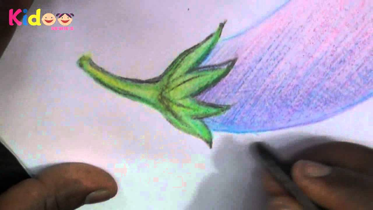 1280x720 How To Draw Brinjal