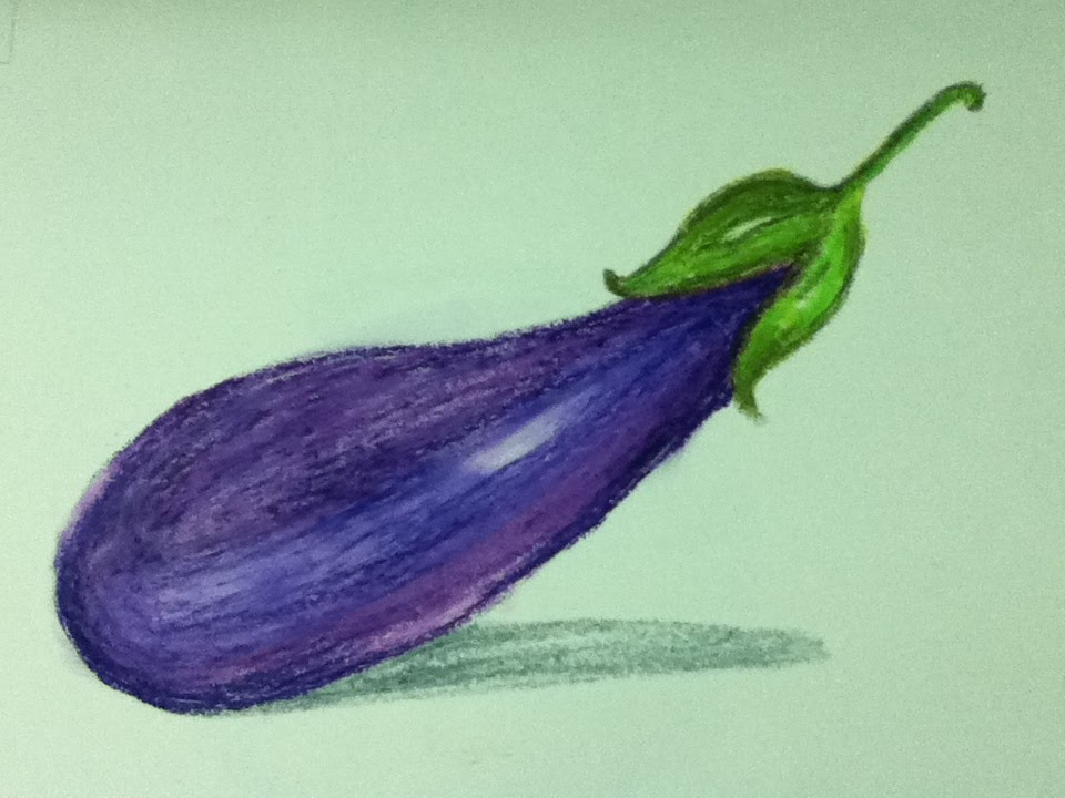 960x720 Brinjal Drawing And Shading In Simple Steps
