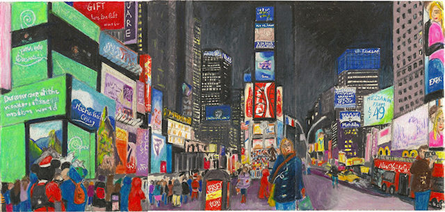 640x305 11 Snapshots From Elise Engler's A Year On Broadway, Drawings