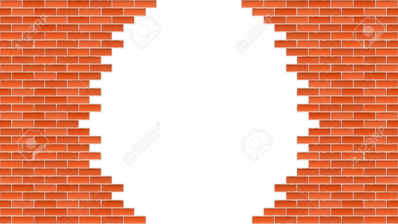 1300x731 Broken Brick Wall Royalty Free Cliparts, Vectors, And Stock
