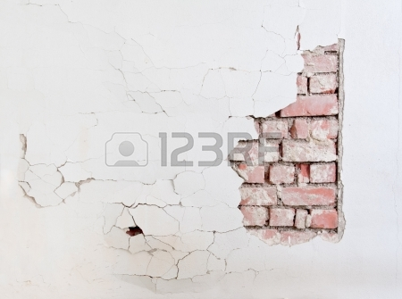 450x335 Walls Crack House, Cement Wall Is Broken. Background And Texture
