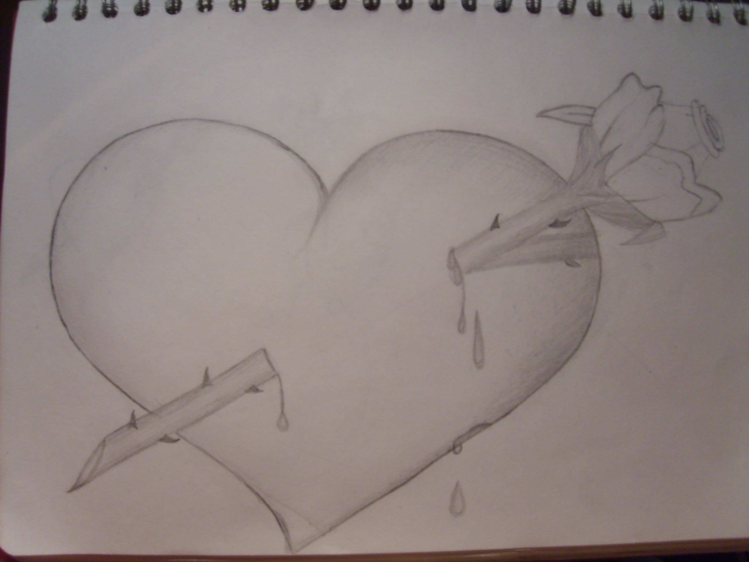 2560x1920 Pencil Sketches Of Hearts And Roses Broken Hearts Drawings Broken