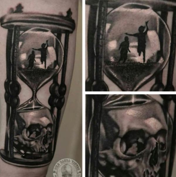 600x602 38 Hourglass Tattoo Design Ideas With Meaning