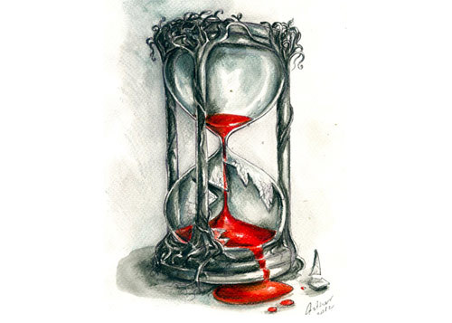 500x357 Hourglass Tattoos Ideas