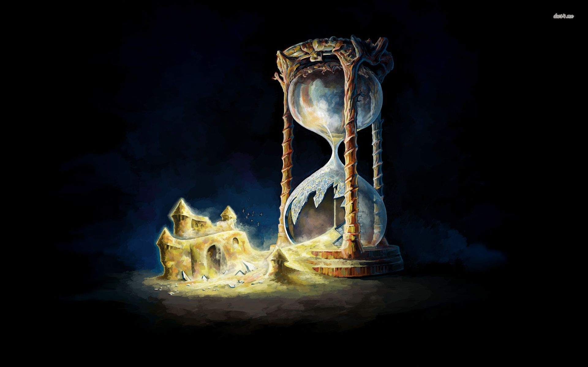 1920x1200 Hourglass Artwork Digital Art Castle Sand Hourglass Time