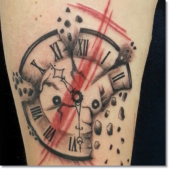590x590 75 Brilliant Pocket Watch Tattoo Designs Ever Made