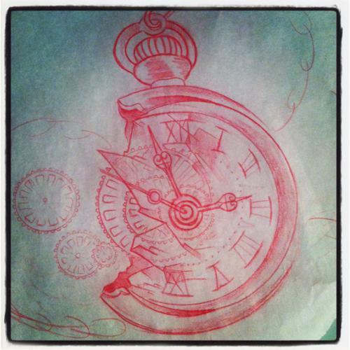 500x500 Traditional Tattoo Ideas Drawing, Clock, Tattoos, Tattoo