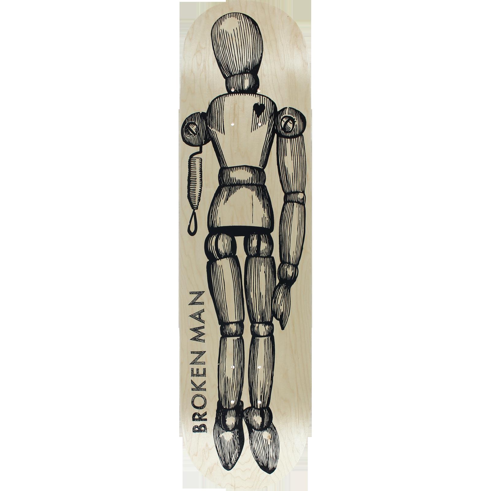 1600x1600 Hurt Life Broken Man Skateboard Deck 8.25 Naturalural Deck Only
