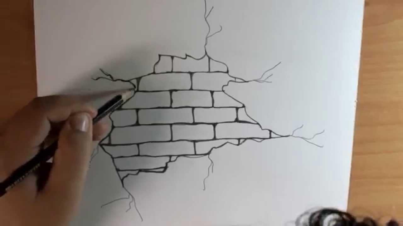 1280x720 Graffiti On Brick Wall Drawing