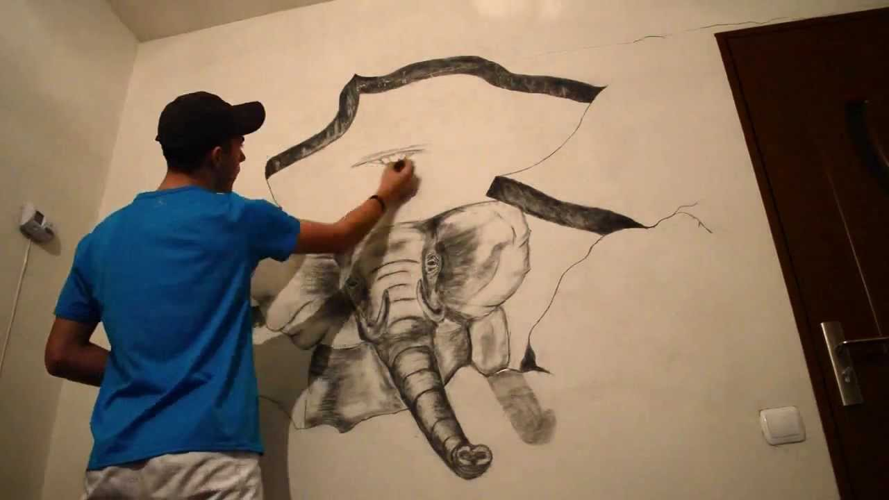 1280x720 How To Draw 3d Wall Art