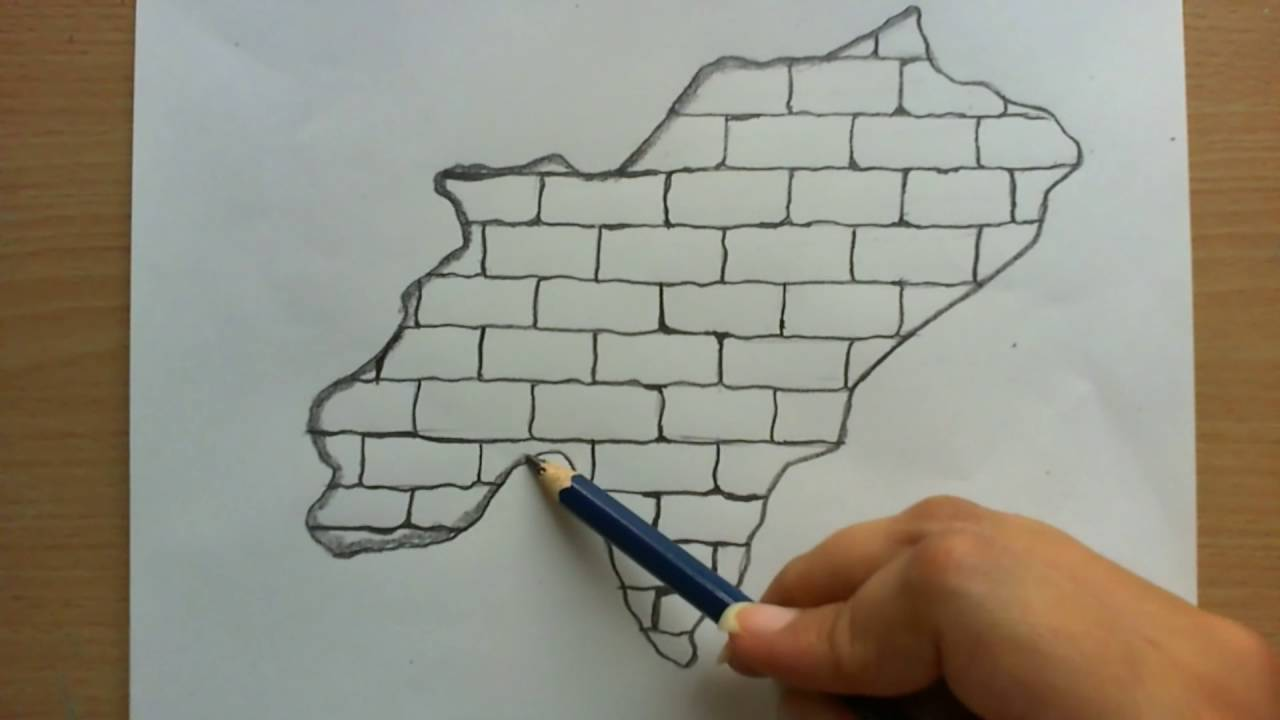 1280x720 How To Draw A Broken Wall