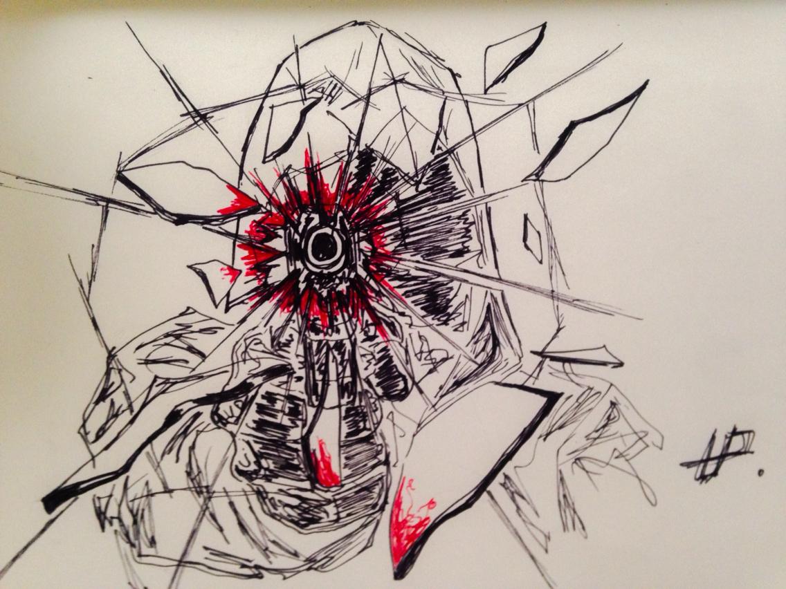 1136x852 Broken Window By Gun Drawing Broken Window