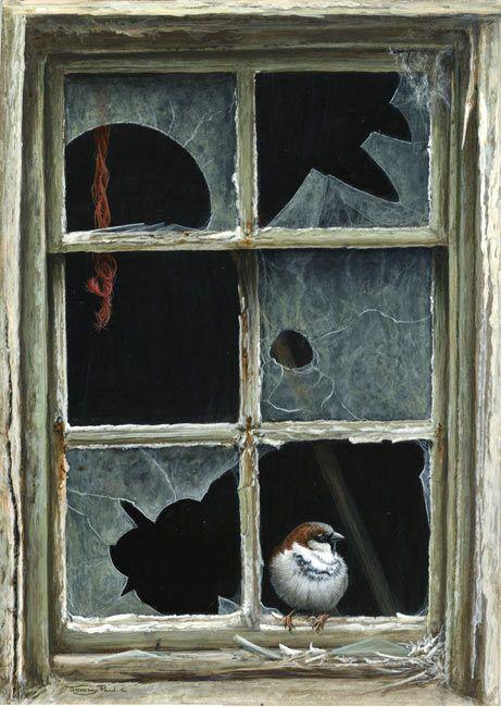 461x650 Broken Window Sparrow By Jeremy Paul Jeremy Paul Art